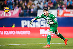 Goalkeeper Iago Herrein of Deportivo Leganes in action during their La Liga match between Atletico de Madrid and Deportivo Leganes at the Vicente Calderón Stadium on 04 February 2017 in Madrid, Spain. Photo by Diego Gonzalez Souto / Power Sport Images