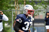 Wednesday, July 27, 2016: New England Patriots strong safety Jordan Richards (37) walks to the practice field at a joint training camp practice between New England Patriots and  the New Orleans Saints  training camp held Gillette Stadium in Foxborough Massachusetts. Eric Canha/CSM