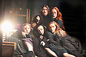 The Crucible by Arthur Miller, directed by Yael Farber. With  Samantha Corley as Abigail Williams in centre with Ensemble. Opens at The Old Vic Theatre  on 3/7/14  pic Geraint Lewis