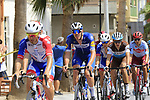 The peloton including Tim Declercq (BEL) Deceuninck-Quick Step pass through Almussafes during Stage 4 of La Vuelta 2019 running 175.5km from Cullera to El Puig, Spain. 27th August 2019.<br /> Picture: Eoin Clarke | Cyclefile<br /> <br /> All photos usage must carry mandatory copyright credit (© Cyclefile | Eoin Clarke)