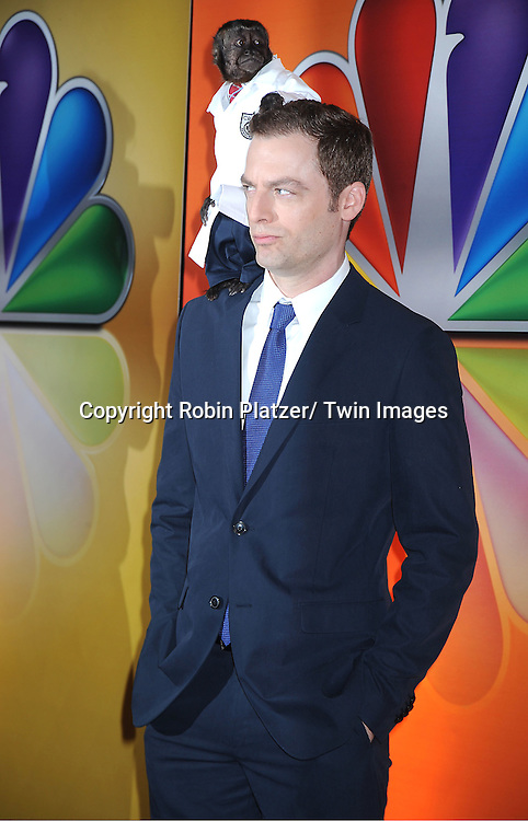 Justin Kirke and Crystal attends the NBC Upfront Presentation of 2012-2013 Season at Radio City Music Hall on May 14, 2012 in New York City.