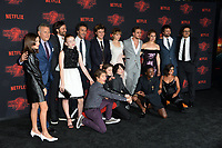 Stranger Things Cast at the premiere for Netflix's &quot;Stranger Things 2&quot; at the Westwood Village Theatre. Los Angeles, USA 26 October  2017<br /> Picture: Paul Smith/Featureflash/SilverHub 0208 004 5359 sales@silverhubmedia.com