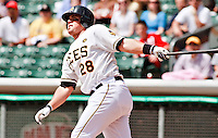 May 19, 2009:  Bobby Wilson of the Salt Lake Bees, Pacific Cost League Triple A affiliate of the Los Angeles (Anaheim) Angles, during a game at the Spring Mobile Ballpark in Salt Lake City, UT.  Photo by:  Matthew Sauk/Four Seam Images