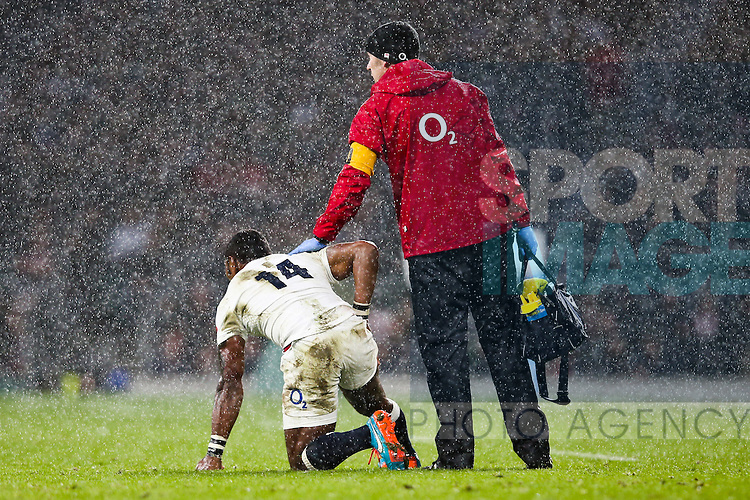 England's Semesa Rokoduguni down - QBE Autumn Internationals - England vs New Zealand - Twickenham Stadium - London - 08/11/2014 - Pic Charlie Forgham-Bailey/Sportimage