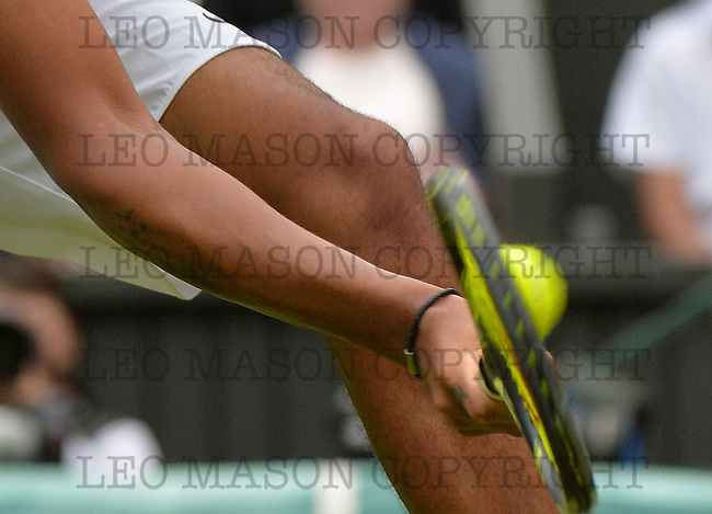 04.07.2016 AELTC Tennis Championships at Wimbledon London UK  Mens 4th round Nick Kyrgious AUS v Andy Murray GBR Nygrious during the match Murray won in straight sets