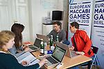14.4.2015, Berlin. Vorbereitungen zu den European Maccabi Games