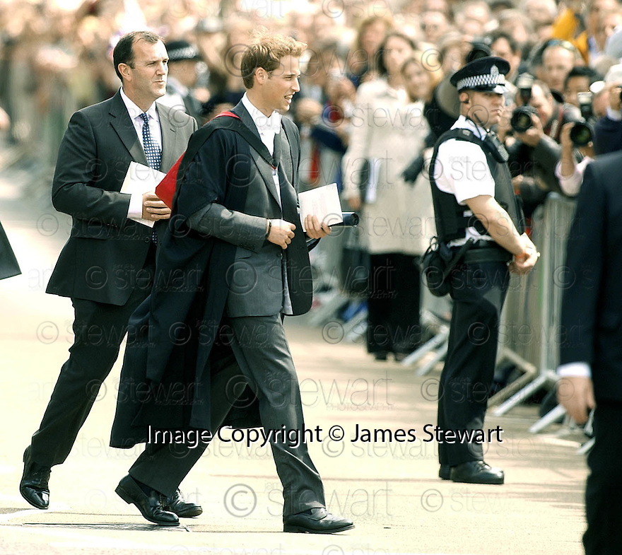23/06/2005         Copyright Pic : James Stewart.File Name : sct_jspa02 wills graduation.PRINCE WILLIAM GREETS THE CROWDS AFTER HIS GRADUATION FROM ST ANDREWS UNIVERSITY......Payments to :.James Stewart Photo Agency 19 Carronlea Drive, Falkirk. FK2 8DN      Vat Reg No. 607 6932 25.Office     : +44 (0)1324 570906     .Mobile   : +44 (0)7721 416997.Fax         : +44 (0)1324 570906.E-mail  :  jim@jspa.co.uk.If you require further information then contact Jim Stewart on any of the numbers above.........