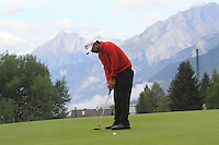 Shiv Kapur (IND) on the 13th during the 1st day of the Omega European Masters, Crans-Sur-Sierre, Crans Montana, Switzerland..Picture: Golffile/Fran Caffrey..