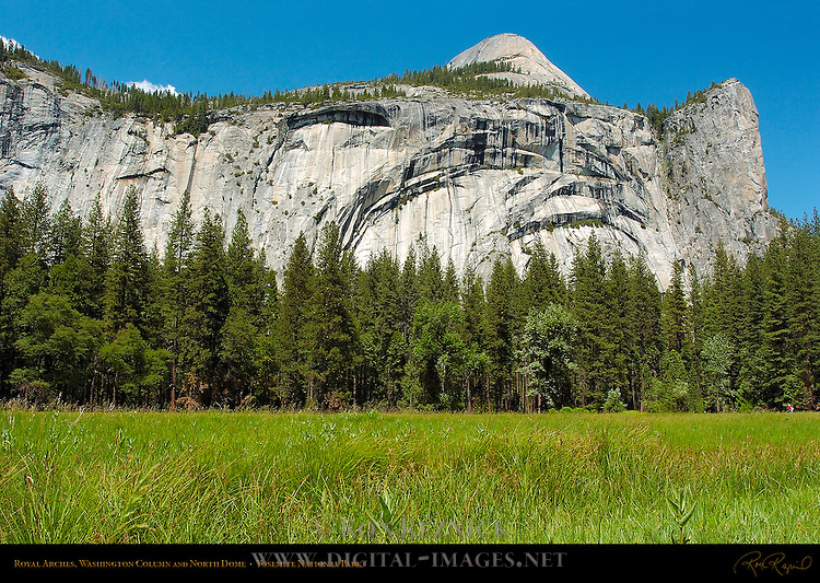 Royal Arches, North Dome and Washington Column from Stoneman Meadow in Spring, Yosemite National Park
