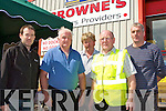 Derry Casey, John Joe O'Connell Abbeyfeale, Pat Leary Currow, John Daly Currow and Eamon Courtney Ballyhar at the Browne's Builder Providers open day on Monday