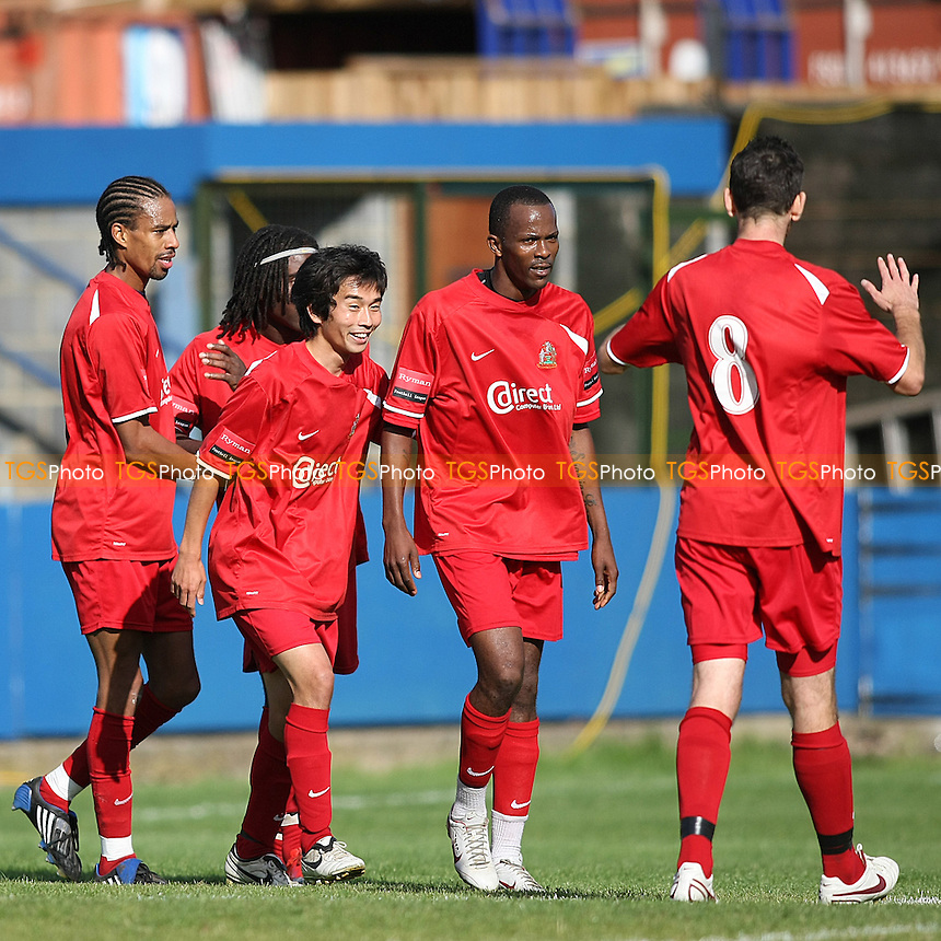 Rocky Celebrates with team after scoring the first goal for Harrow - Redbridge vs Harrow Borough - FA Cup 2nd Qualifying Round Football at Oakside - 25/09/10 - MANDATORY CREDIT: George Phillipou/TGSPHOTO - Self billing applies where appropriate - 0845 094 6026 - contact@tgsphoto.co.uk - NO UNPAID USE..