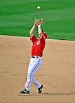 22 June 2008: Washington Nationals' infielder Pete Orr makes the final out of the eighth inning against the Texas Rangers at Nationals Park in Washington, DC. The Rangers defeated the Nationals 5-3 in the final game of their 3-game inter-league series...Mandatory Photo Credit: Ed Wolfstein Photo