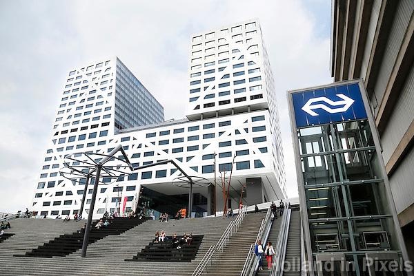 Nederland Utrecht. Het nieuwe Stadskantoor van Utrecht bij Centraal Station. Foto Berlinda van Dam /  Hollandse Hoogte