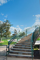 Ronald Reagan Presidential Library and Museum  Outside Curved Stairway,  Simi Valley California