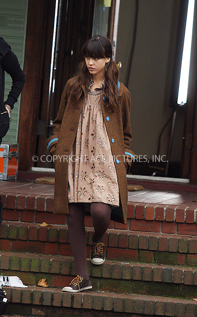 WWW.ACEPIXS.COM . . . . .  ....November 7 2008, New York City....Actress Jessica Alba was on the set of her latest movie 'An invisible sign of my own' in Brooklyn on November 7 2008 in New York City.....Please byline: AJ Sokalner - ACEPIXS.COM.... *** ***..Ace Pictures, Inc:  ..(212) 243-8787 or (646) 769 0430..e-mail: picturedesk@acepixs.com..web: http://www.acepixs.com