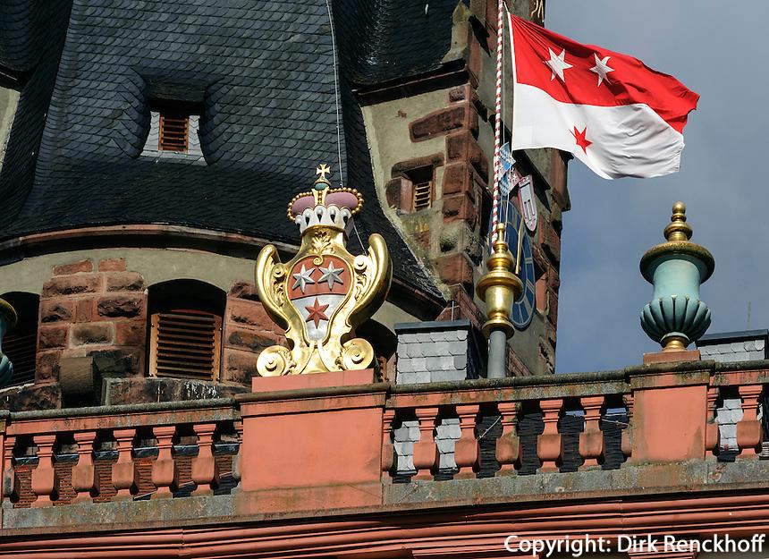 Schloss in  Erbach im Odenwald, Hessen, Deutschland
