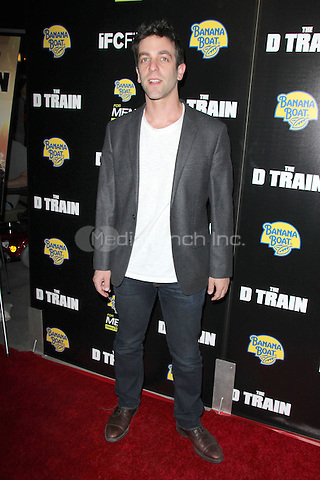 "HOLLYWOOD, CA - APRIL 27: B. J. Novak at the ""D Train"" Los Angeles Premiere at the Arclight in Hollywood, California on April 27, 2015. Credit: Dave Edwards/DailyCeleb/MediaPunch"