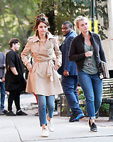 NEW YORK, NY September 11, 2017 Selena Gomez shooting on location for Untitled Woody Allen Project in New York September 11,  2017.<br /> CAP/MPI/RW<br /> &copy;RW/MPI/Capital Pictures