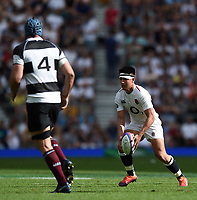 Marcus Smith of the England XV in possession. Quilter Cup International match between England XV and the Barbarians on June 2, 2019 at Twickenham Stadium in London, England. Photo by: Patrick Khachfe / Onside Images
