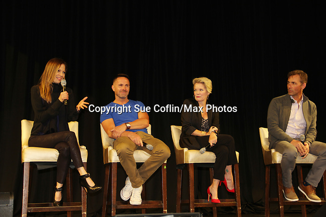 General Hospital's actors Tamara Braun - William DeVry - Maura West - James Patrick Stuart on October 5, 2019 at the Hollywood Casino, Columbus, Ohio with a Q & A and a VIP meet and greet. (Photo by Sue Coflin/Max Photo)