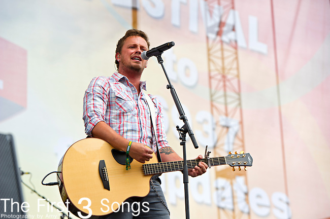 Stephen Barker Liles of Love and Theft  performs on the Chevrolet Riverfront Stage during Day 1 of the 2013 CMA Music Festival in Nashville, Tennessee.