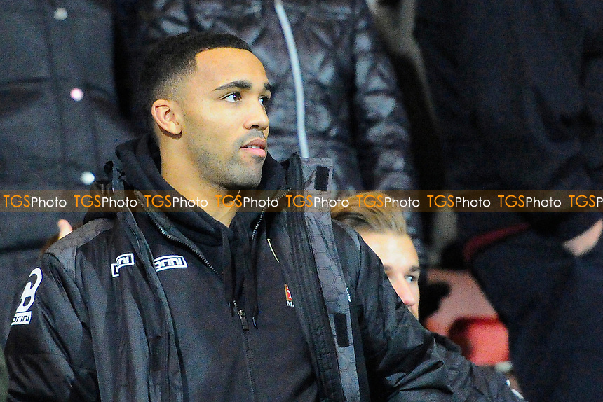 Injured AFC Bournemouth striker Callum Wilson of AFC Bournemouth watches from the stands during AFC Bournemouth vs Manchester United at the Vitality Stadium