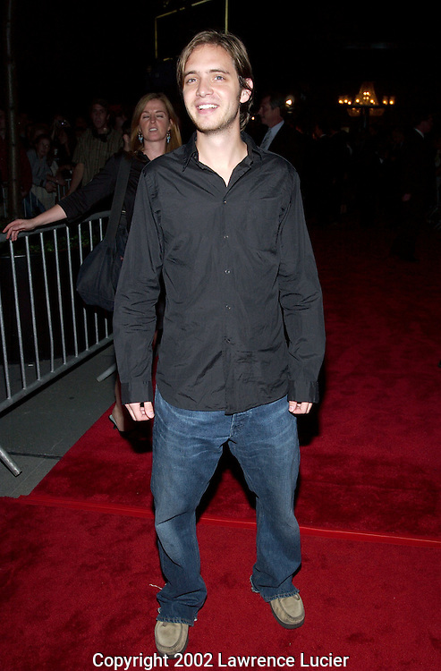 NEW YORK-SEPTEMBER 30: Actor Aaron Stanford arrives at the premier of the film Red Dragon September 30, 2002, in New York City.