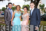 Having a wonderful time at the Causeway Comprehensive School Debs at the Brandon Hotel on Thursday were l-r  Mikey Rochford, Aoife Moriarty, Rebecca Casey, Robert McElligott.