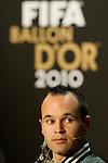 Andres Iniesta (ESP) Kandidat fuer den FIFA Ballon D'Or als bester Weltfussballer (Andreas Meier/EQ Images)