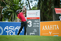 S Chikkarangappa (IND) on the 3rd tee during the 3rd round of the AfrAsia Bank Mauritius Open, Four Seasons Golf Club Mauritius at Anahita, Beau Champ, Mauritius. 01/12/2018<br /> Picture: Golffile | Mark Sampson<br /> <br /> <br /> All photo usage must carry mandatory copyright credit (© Golffile | Mark Sampson)