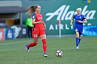 Portland, OR - Saturday May 06, 2017: Celeste Boureille during a regular season National Women's Soccer League (NWSL) match between the Portland Thorns FC and the Seattle Reign FC at Providence Park.