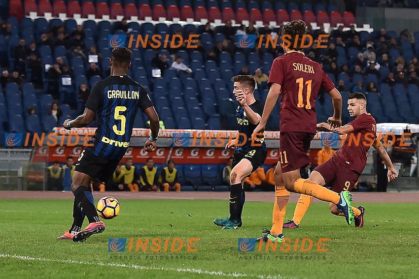 Roma 28-10-2016 Stadio Olimpico - Supercoppa Primavera . Young League Supercup / AS Roma - Inter / foto Antonello Sammarco/Image Sport/Insidefoto<br /> nella foto: gol Marco Tumminello