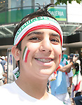 17 June 2006: An Iran fan in Frankfurt before the game. Portugal played Iran at Commerzbank Arena in Frankfurt, Germany in match 24, a Group D first round game, of the 2006 FIFA World Cup.