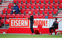 17th May 2020,Stadion An der Alten Försterei, Berlin, Germany; Bundesliga football, FC Union Berlin versus Bayern Munich; Assistant-Trainer Markus Hoffmann of Berlin  gestures to his players from the sideline