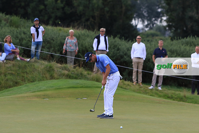 Sebastien Gros (FRA) on the 4th green during Round 4 of the 2016 KLM Open at the Dutch Golf Club at Spijk in The Netherlands on  Sunday 11/09/16.<br /> Picture: Thos Caffrey | Golffile