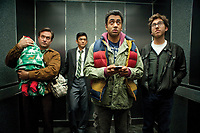 A Very Harold &amp; Kumar Christmas (2011)<br /> Kal Penn, John Cho, Thomas Lennon &amp; Amir Blumenfeld<br /> *Filmstill - Editorial Use Only*<br /> CAP/KFS<br /> Image supplied by Capital Pictures