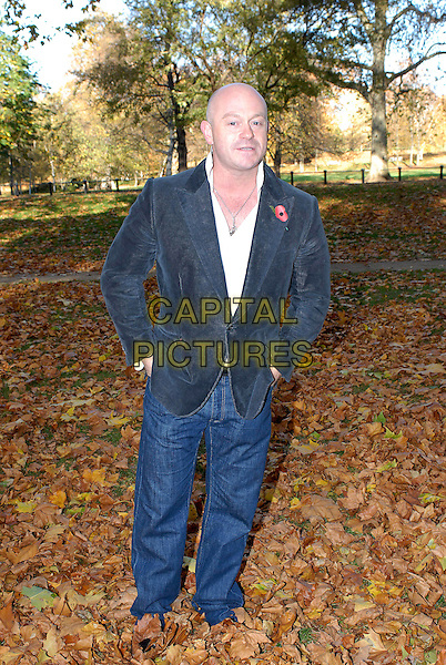 "ROSS KEMP .Photocall for ""Snow White & The Seven Dwarfs"", Hyde Park, London, England..November 7th, 2007.full length jeans denim blue suit jacket hands in pockets .CAP/FIN.©Steve Finn/Capital Pictures."