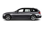 Car Driver side profile view of a 2016 BMW 3 Series M Sport 5 Door Wagon Side View