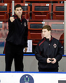 Mike Feeley (BC - Student Manager), Stephen Greenberg (BC - Student Manager) - The Northeastern University Huskies defeated the Boston College Eagles 3-2 on Friday, February 19, 2010, at Matthews Arena in Boston, Massachusetts.