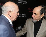 """Terrence McNally and F. Murray Abraham attending the Broadway Opening Night Performance After Party for """"Mothers and Sons"""" at Sardi's Restaurant on March 24, 2014 in New York City."""
