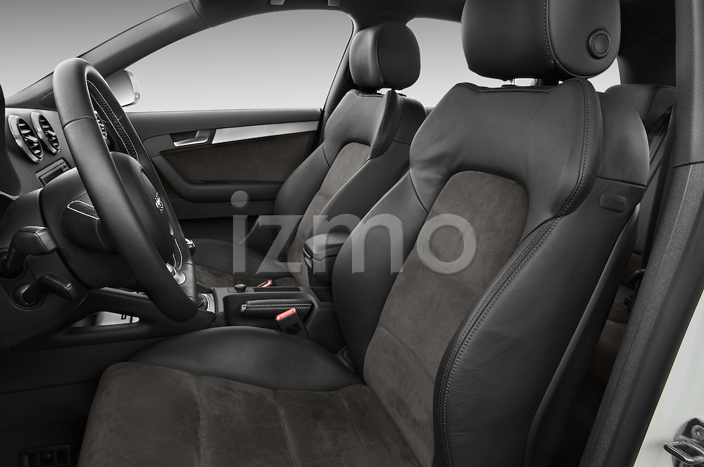 Front seat view of a 2009 - 2013 Audi S3 Sportback 5-Door Hatchback 4WD.