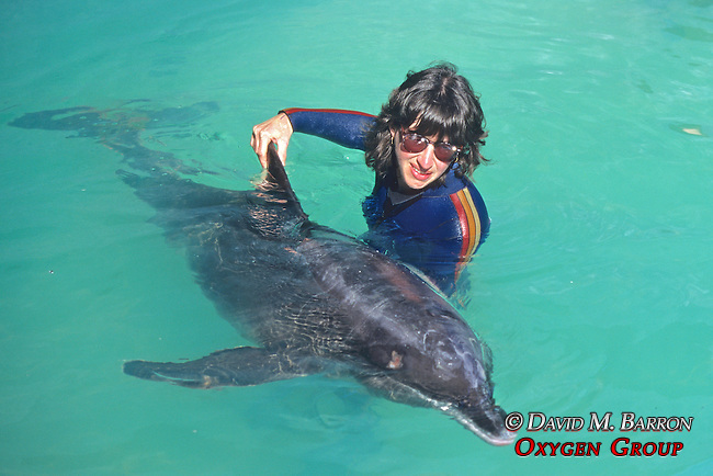 Jan Rymer With Rough-toothed Dolphin