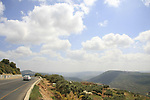 Israel, Upper Galilee, Road 864 overlooking Beit Hakerem valley