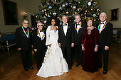 President George W. Bush and Mrs. Laura Bush stand in the Blue Room of the White House Sunday, Dec. 2, 2007, with the Kennedy Center Honorees for 2007, from left:  Leon Fleisher, Marin Scorsese, Diana Ross, Brian Wilson and Steve Martin.  White House photo by Eric Draper