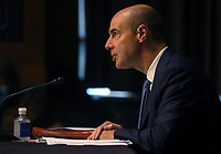 United States Secretary of Labor Eugene Scalia testifies before a US Senate Finance Committee hearing on the role of unemployment insurance during the coronavirus disease (COVID-19) pandemic on Capitol Hill in Washington, U.S., June 9, 2020. <br /> Credit: Leah Millis / Pool via CNP/AdMedia