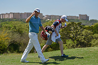 Padraig Harrington (IRL) waves to fans as he heads down 18 during day 1 of the Valero Texas Open, at the TPC San Antonio Oaks Course, San Antonio, Texas, USA. 4/4/2019.<br /> Picture: Golffile | Ken Murray<br /> <br /> <br /> All photo usage must carry mandatory copyright credit (© Golffile | Ken Murray)