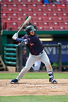 Cedar Rapids Kernels designated hitter Chris Williams (32) during a Midwest League game against the Kane County Cougars at Northwestern Medicine Field on April 28, 2019 in Geneva, Illinois. Kane County defeated Cedar Rapids 3-2 in game one of a doubleheader. (Zachary Lucy/Four Seam Images)