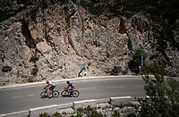 race leaders Sander Armée (BEL/Lotto-Soudal) & Ángel Madrazo (ESP/Burgos-BH) up the first catagorised climb of the day<br /> <br /> Stage 2: Benidorm to Calpe (199.6km)<br /> La Vuelta 2019<br /> <br /> ©kramon