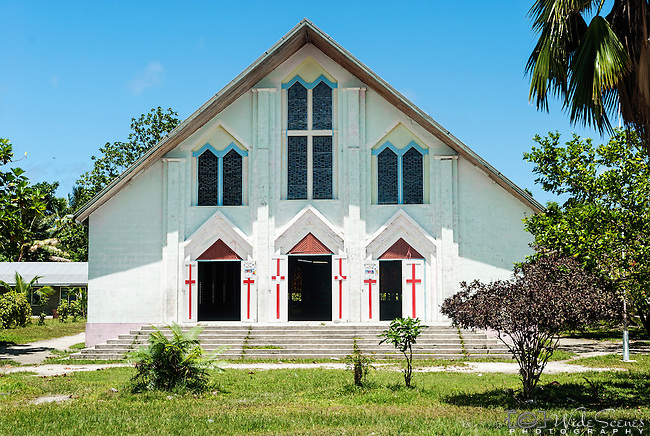 Church on South Tarawa, Kiribati