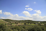 Israel, the Upper Galilee, a view from Metzad Abirim (Fortress of the Knights)
